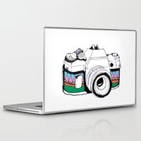 camera Laptop & iPad Skins featuring Camera by Mariam Tronchoni
