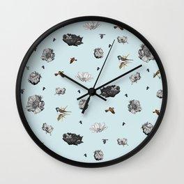 Birds of a Flower Wall Clock