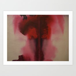 red rorschach Art Print