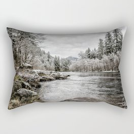 Wintry River Rectangular Pillow