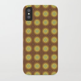 VIRGO sun sign Flower of Life repeat pattern iPhone Case