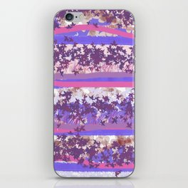 abstract pastel pink blue iPhone Skin