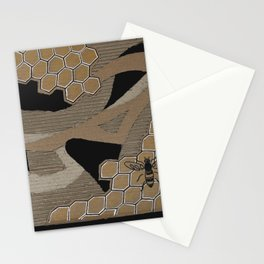 Cardboard honey bee Stationery Cards