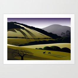 Napa Hills Art Print