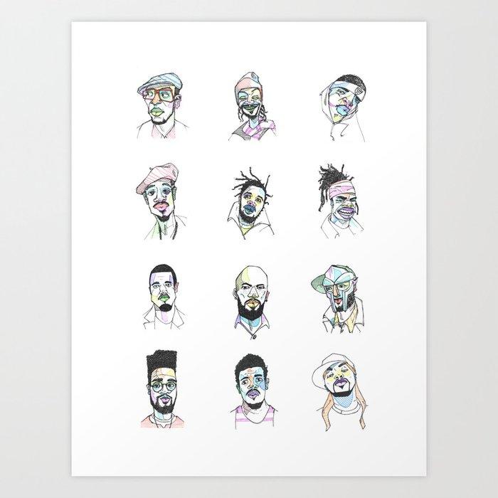 Twelve Rappers Kunstdrucke