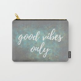 Good Vibes - Blue Yellow Carry-All Pouch