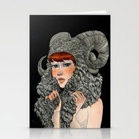 ram Stationery Cards featuring Ram by Renee Nault