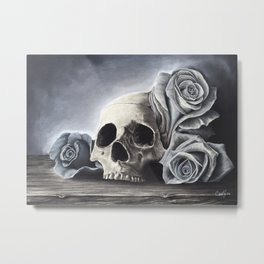 Death by the Rose Metal Print