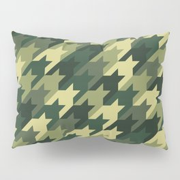 Camouflage houndstooth Pillow Sham