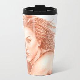 Woman Portrait 3 Travel Mug