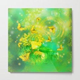 Dream wreck with butterflies Metal Print
