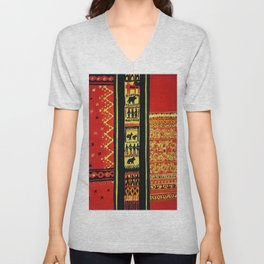 The Great Nagas Of India Unisex V-Neck