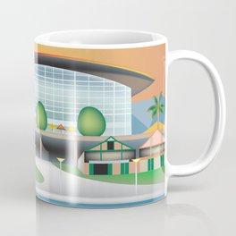 Adelaide, Australia - Skyline Illustration by Loose Petals Coffee Mug