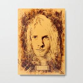 27 Club - Cobain Metal Print