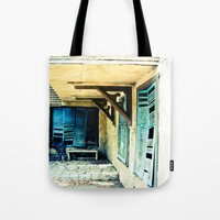 rustic Tote Bags featuring Rustic by Kim Ramage