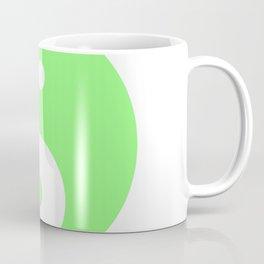 Yin & Yang (Light Green & White) Coffee Mug