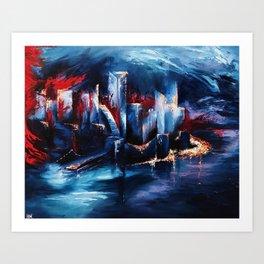 """City Lights"" Painting Art Print"