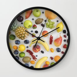 Collection of summer fruits Wall Clock