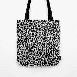 Neon Gray Leopard Tote Bag