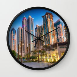 Lights, steel and glass Wall Clock