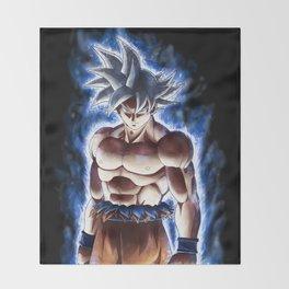 Ultra blue fighter Throw Blanket