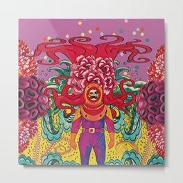 Colorful octopus Metal Print