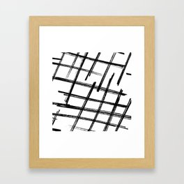 Criss Cross B+W Print Framed Art Print