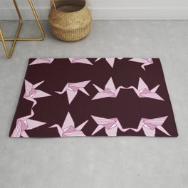 pink japanese origami Rug