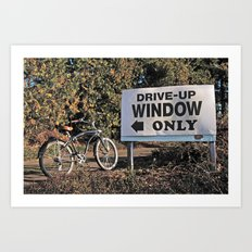 Drive-up only Art Print