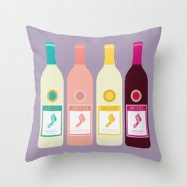 Barefoot Wine Throw Pillow