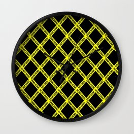 CRIME SCENE CROSSED Wall Clock