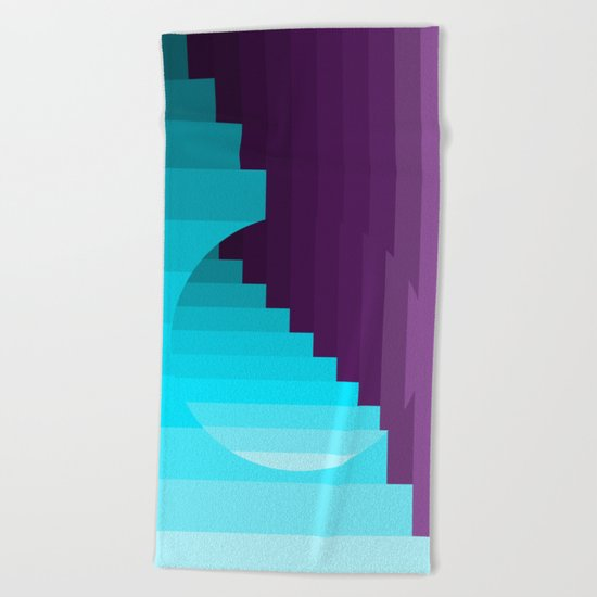 Ups and Down | Deep Within | Purple | Blue | Turquoise Beach Towel