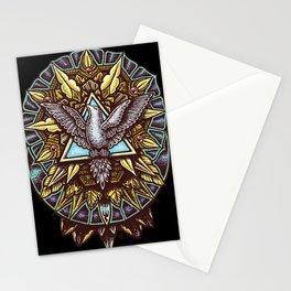Trinity Merkabah Spirit Dove Mandala Stationery Cards