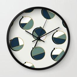 Xmas Balls Pattern #society6 #decor #xmas Wall Clock