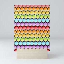 Rainbow Dotty Stripes Mini Art Print