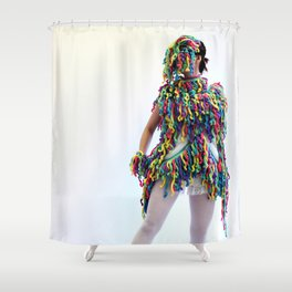 Fringe Panic Shower Curtain