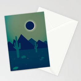 Desert Eclipse Stationery Cards