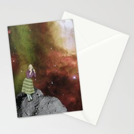 Lady in Space III Stationery Cards