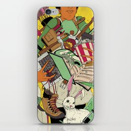 Woman Holding Objects iPhone Skin