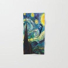Tardis Starry Night Hand & Bath Towel