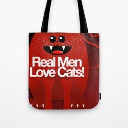 MEN LOVE CATS Tote Bag