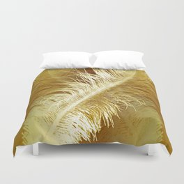 Golden Ostrich Duvet Cover