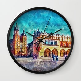 Cracow Main Square Wall Clock