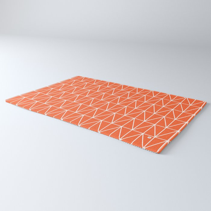 CHEVRON TRIANGLES - ORANGE Rug