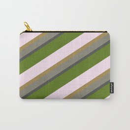 Pink Roses in Anzures 5  Stripes 3D Carry-All Pouch