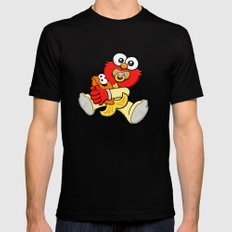 Baby Elmo & Dorothy LARGE Black Mens Fitted Tee