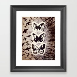 Butterfly Abstracted Framed Art Print