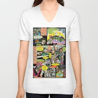 canada V-neck T-shirts featuring Vivita Spa KOMIX #1 by Tex Watt