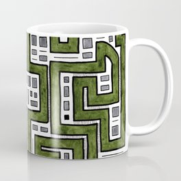 Green Mirrored Pathways Coffee Mug