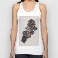 violin Tank Tops featuring violin by Buffy Ino Kua